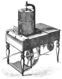 Tacheotyp Jafnan talin vera fyrsta setjaravélin. Uppfinning Christian Sørensen fékk gullverðlaun á Heimssýningunni í París 1855.