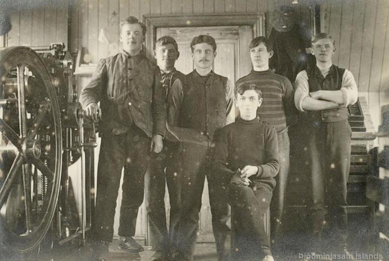 Félagsprentsmiðjan 1919–1921. Mynd: Þjóðminjasafn Íslands.