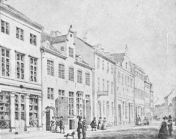 Østergade árið 1840.